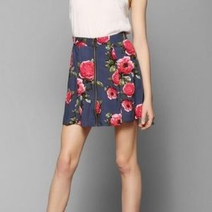 Pins and Needles Floral Navy Skirt